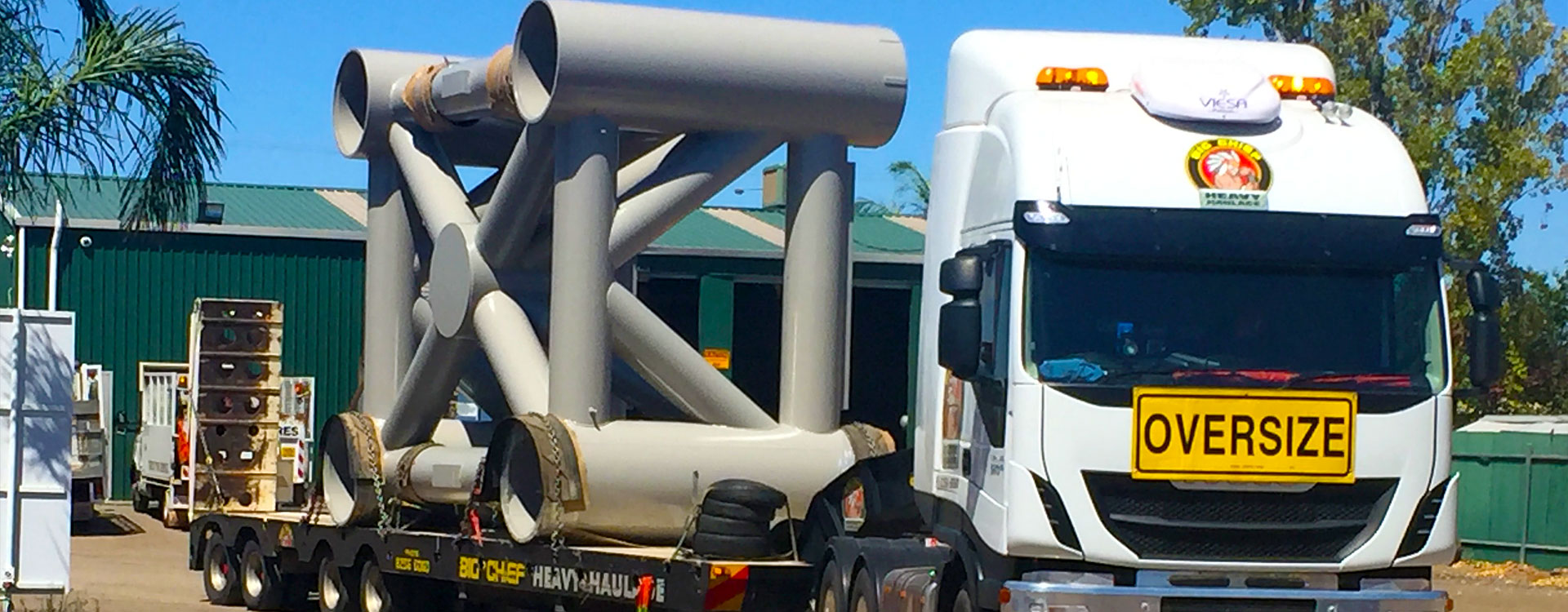 Big Chief Heavy Haulage Transport Truck with Over Size load