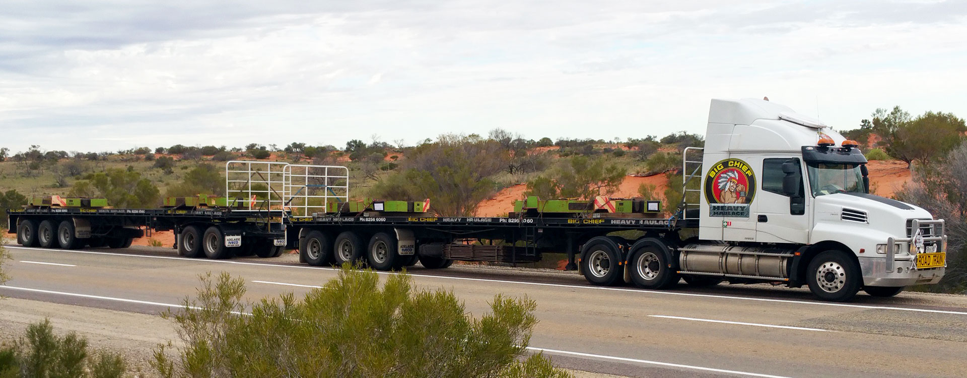 Big Chief Heavy Haulage Transport Truck with Road Train